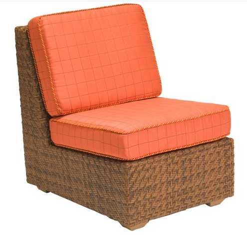 Domino Wicker Armless Lounge Chair