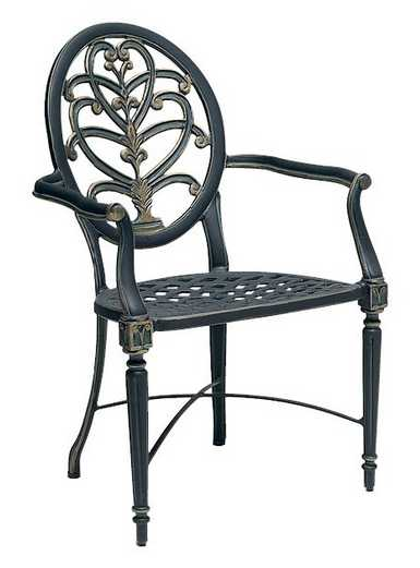 Landgrave Elise Cast Aluminum Dining Arm Chair