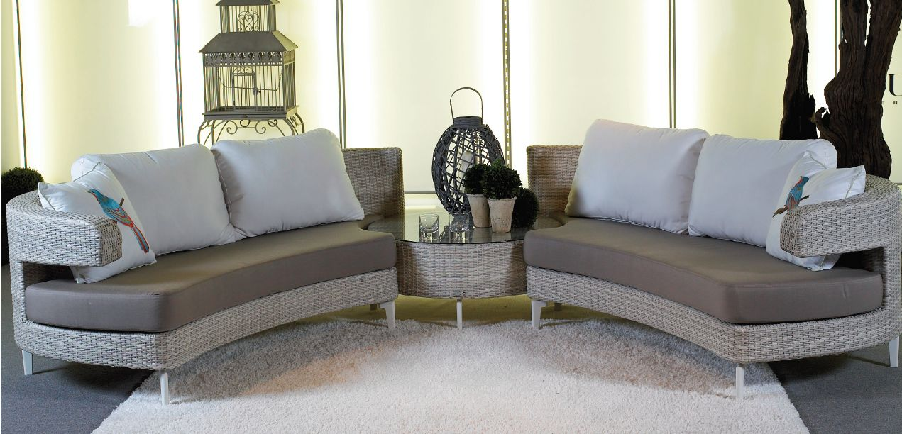 Couture Jardin Embrace Sectional Ottoman