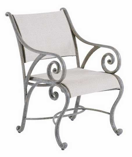 Landgrave Excelsior Cast Aluminum Dining Arm Chair