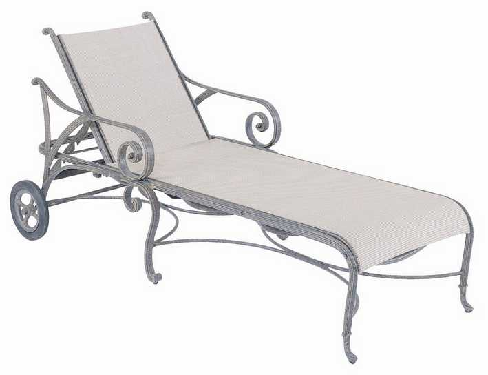 Landgrave Excelsior Cast Aluminum Adjustable Chaise Lounge