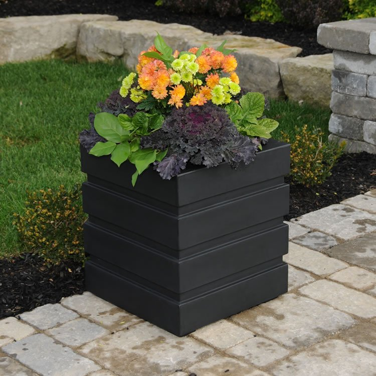 Freeport Patio Planter 18×18 Black