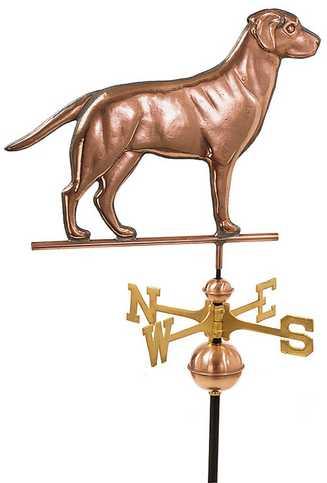 Good Directions Labrador Retriever Weathervane – Polished Copper