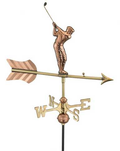 Good Directions Golfer Weathervane