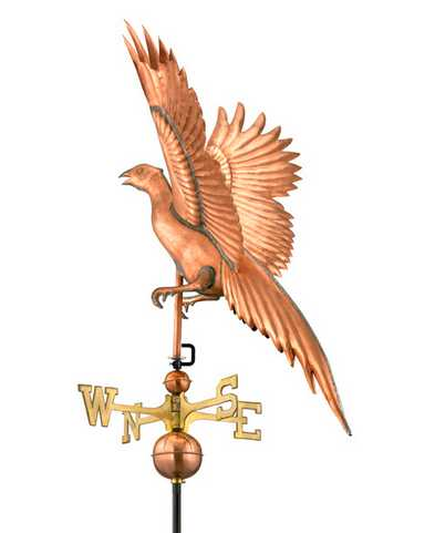 Good Directions Pheasant Weathervane – Polished Copper