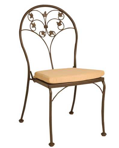 Glenwood Wrought Iron Bistro Side Chair – Stackable