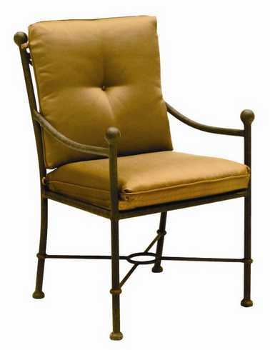 Landgrave Hacienda Cast Aluminum Dining Arm Chair