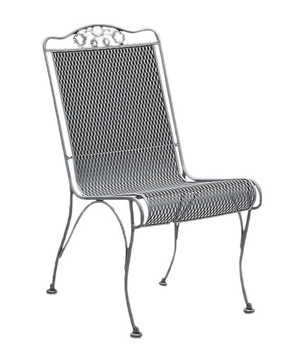 Briarwood Wrought Iron High-Back Dining Side Chair