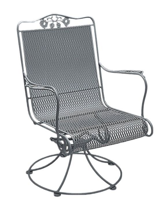 Briarwood Wought Iron High-Back Swivel Rocker