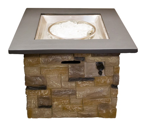Square Faux Stone Firepit
