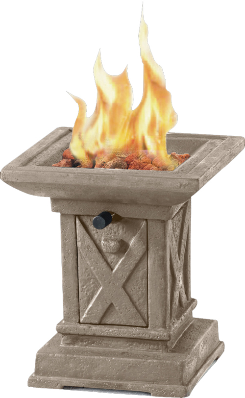 Tabletop Square Faux Stone Firepit