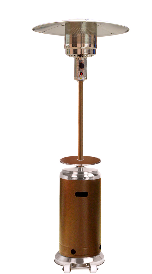 87� Tall Stainless Steel  Patio Heater with Table