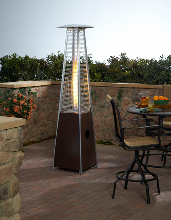 94� Tall Commercial Triangle Glass Tube Patio Heater