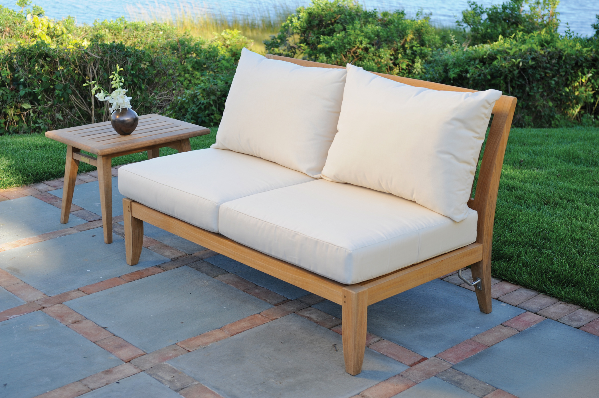 Kingsley-Bate Ipanema Teak Sectional-Armless Settee