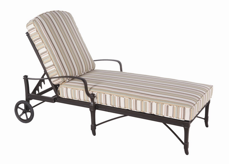Isla Aluminum Adjustable Chaise Lounge – Stackable