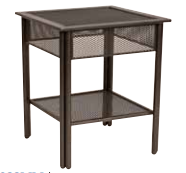 Jax Wrought Iron End Table – Micro Mesh Top