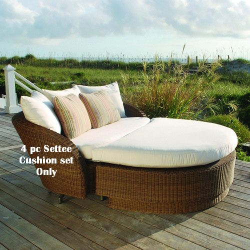 Kingsley-Bate Carmel Deep Seating Settee Replacement Cushions for Daybed (4pc)