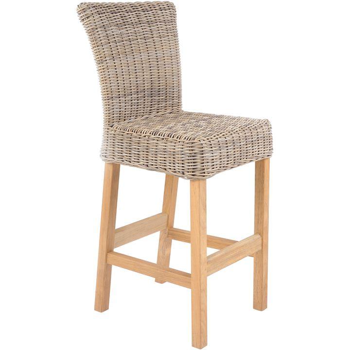 Kingsley-Bate Sag Harbor Woven Armless Bar Chair