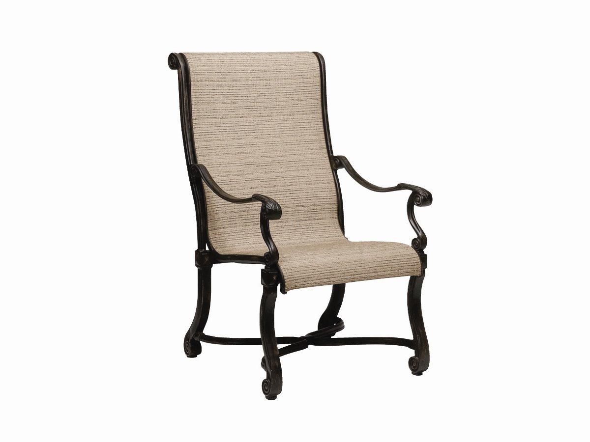 Landgrave Villa Aluminum Sling Dining Arm Chair