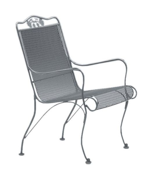 Briarwood Wrought Iron High-Back Lounge Chair