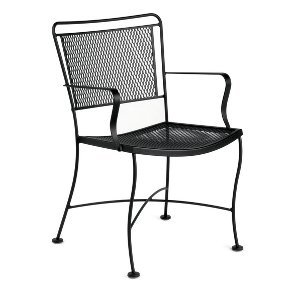 Constantine Wrought Iron Dining Arm Chair
