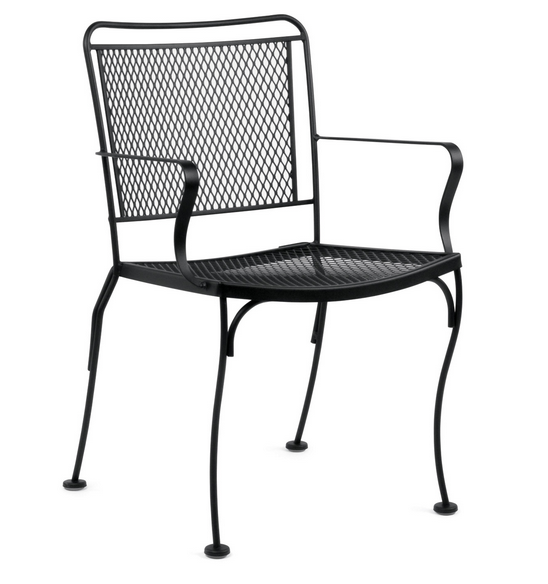 Constantine Wrought Iron Dining Arm Chair – Stackable