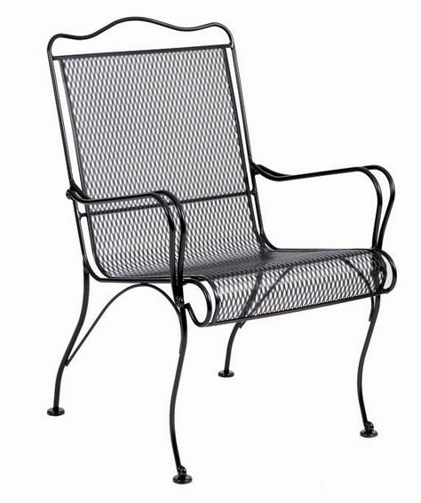 Tucson Wrought Iron High Back Dining Arm Chair