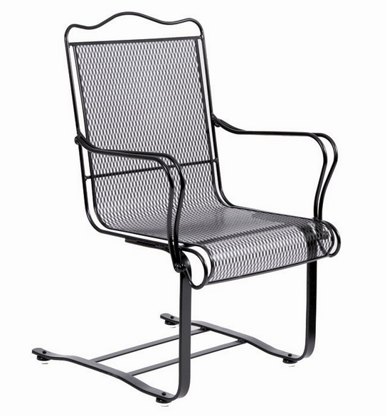 Tucson Wrought Iron High Back Spring Base Chair