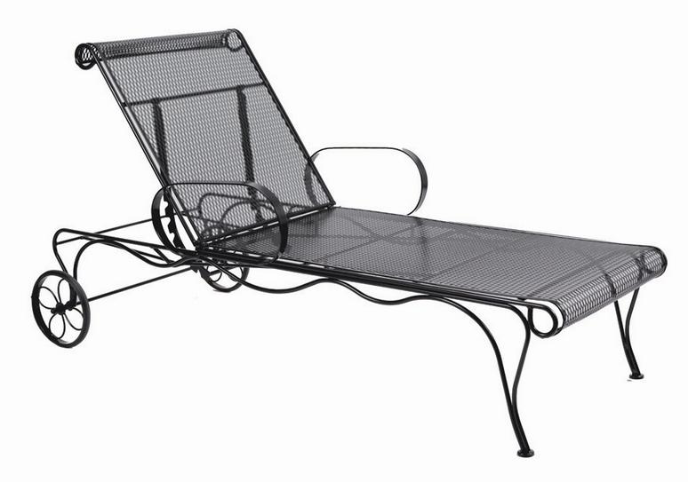 Tucson Wrought Iron Adjustable Chaise Lounge