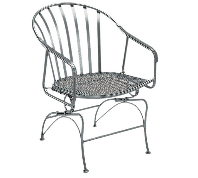 Valencia Wrought Iron Coil Spring Dining Chair