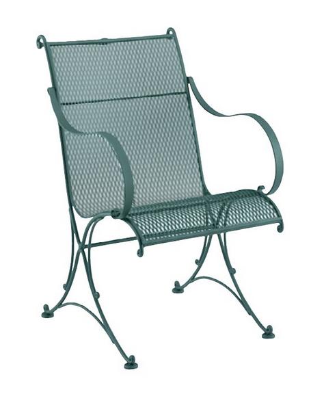Verona Wrought Iron Dining Arm Chair