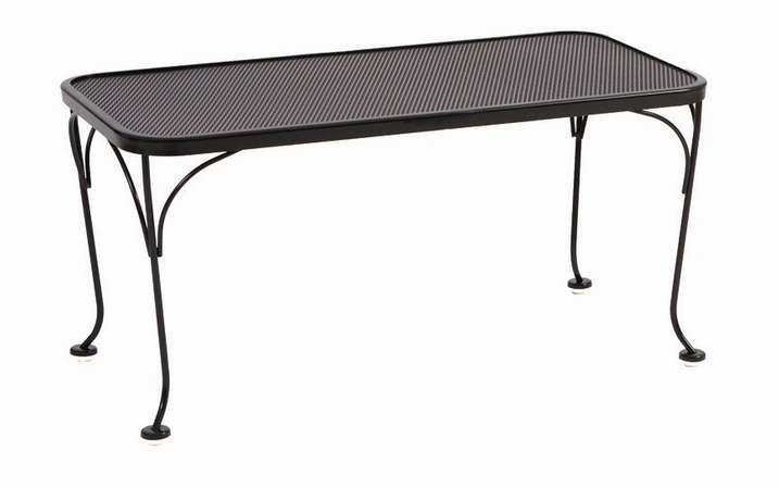 Wrought Iron Deluxe Mesh Top 18� X 36� Rectangular Coffee Table