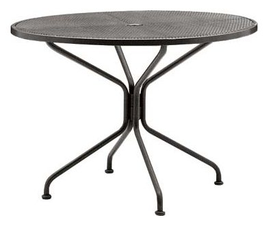 Wrought Iron Premium Mesh Top 48� Round Umbrella Table