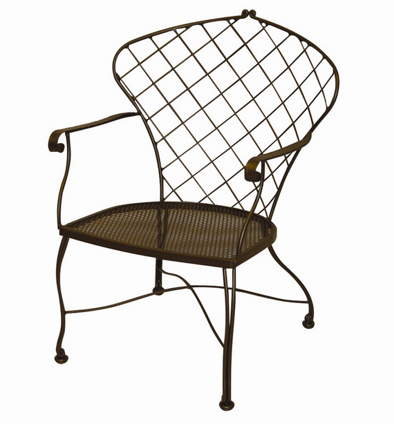 Brayden Wrought Iron Dining Arm Chair