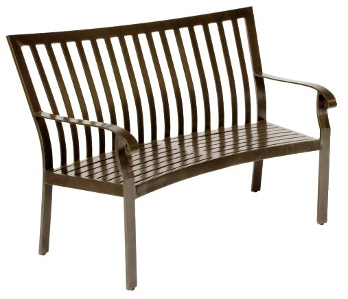 Cortland Aluminum Cushion Crescent Bench