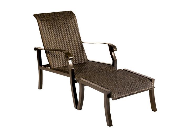 Cortland Woven Aluminum Lounge Chair Flat Weave
