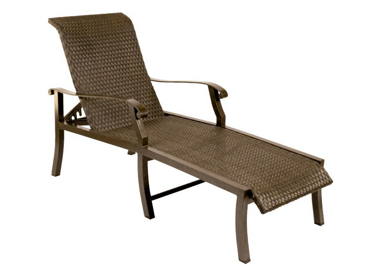 Cortland Woven Aluminum Adjustable Chaise Lounge Flat Weave