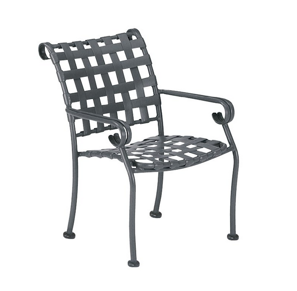Ramsgate Aluminum Dining Arm Chair – Stackable