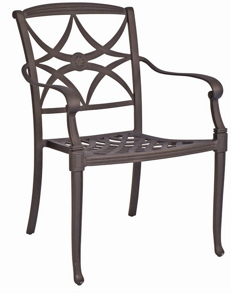Wiltshire Aluminum Dining Arm Chair – Stackable