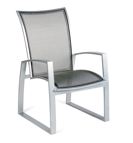 Wyatt Flex Aluminum Dining Arm Chair