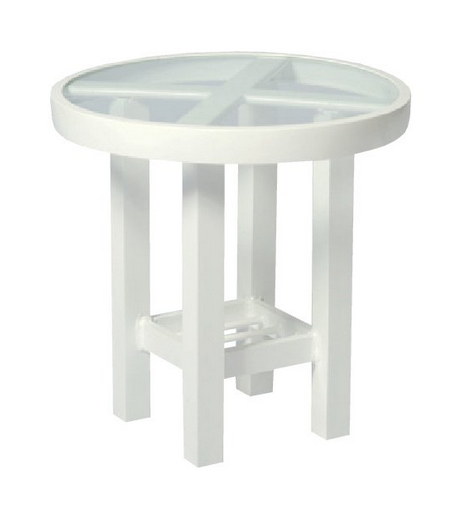 Aluminum 18� Round End Table