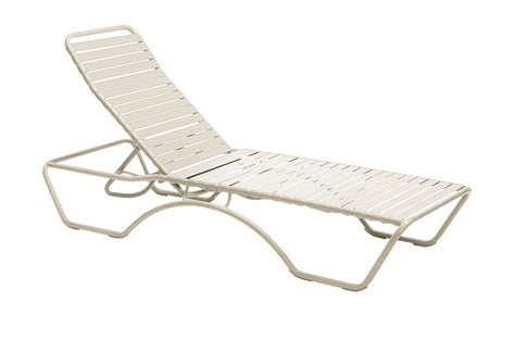 Baja Aluminum Sandstone White Adjustable Chaise Lounge – Stackable