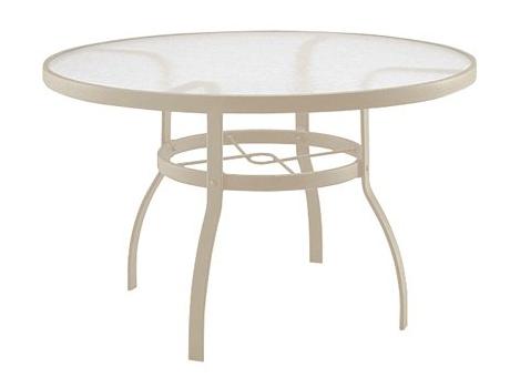 Deluxe Aluminum Sandstone White Textured Black 42� Acrylic Top Table