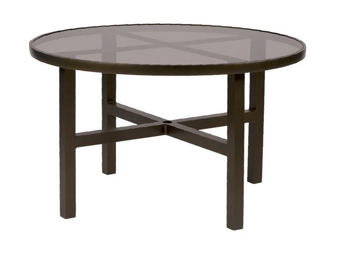 Aluminum 48� Round Umbrella Table Bronze Glass