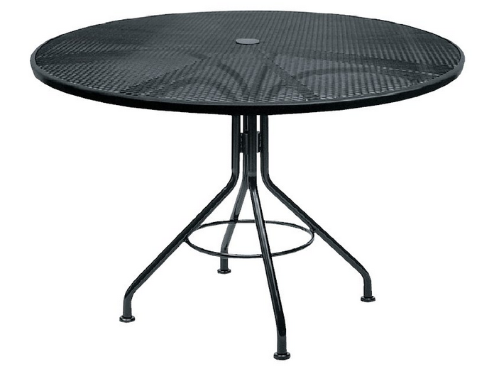 Moderne Mercury Wrought Iron Textured Black Contract + Plus Mesh Top Tables