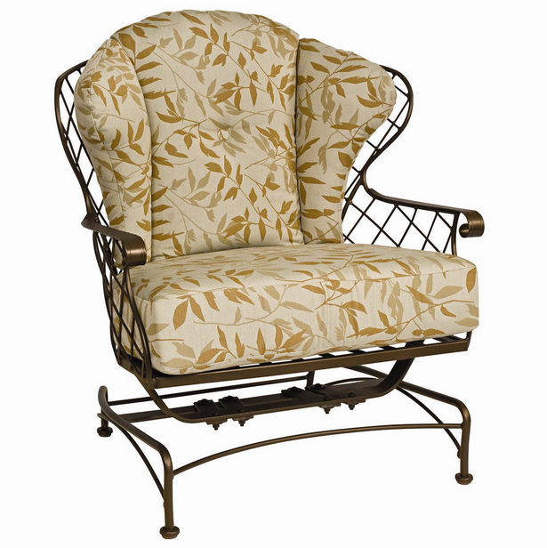 Brayden Wrought Iron Spring Lounge Chair