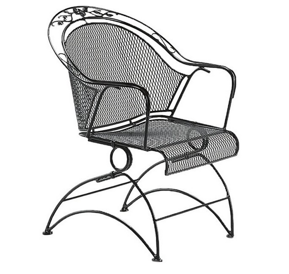 Mesh Coil Spring Barrel Chair