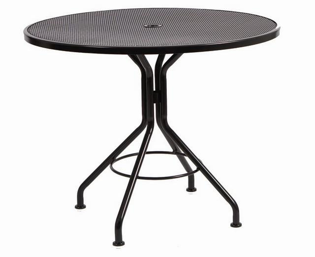 Wrought Iron Premium Mesh Top 36� Round Umbrella Bistro Table