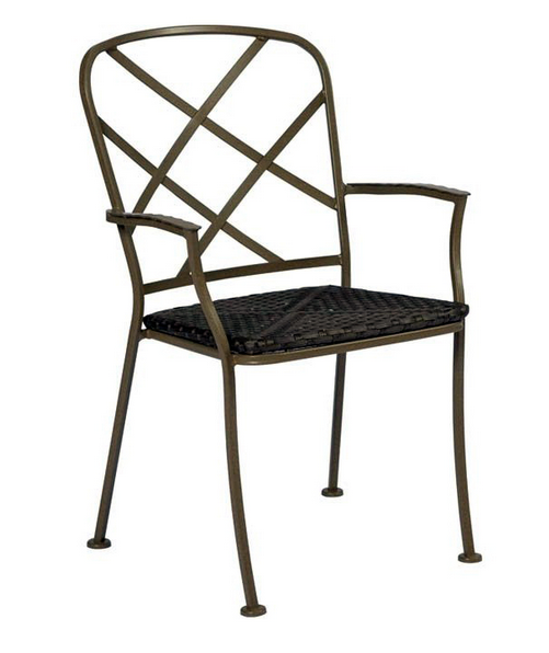 Aberdeen Wrought Iron Bistro Arm Chair – Stackable