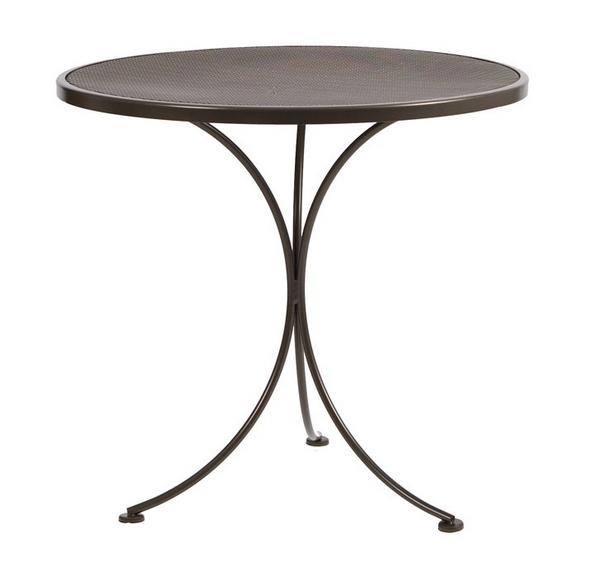 Amelie Micro Mesh Wrought Iron 30� Round Bistro Table